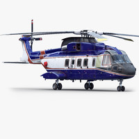 3d agustawestland aw101 helicopter model