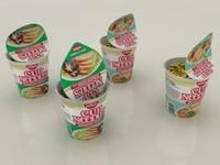 3d nissin instant cup noodles