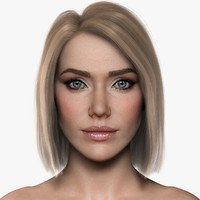 3d woman girl female model