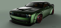 3d car liberty walk challenger