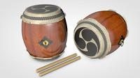 3d model taiko drums