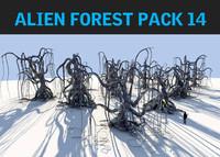 3d model alien forest pack 14
