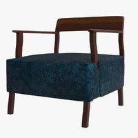 3d berin club chair bddw model