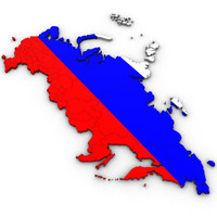 3d Political Map of Russia