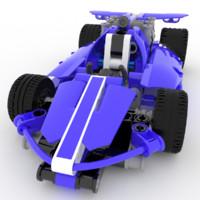 lego racing car 3d max