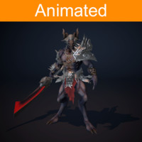 3d model character demon animations