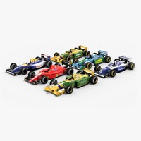 3d model classic formula 1 teams