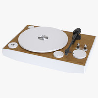 3d model photoreal vacuum tube turntable
