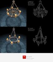 3d chandelier lighting set