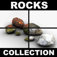 Detailed rocks collection