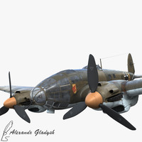 he-111 german bomber 3ds