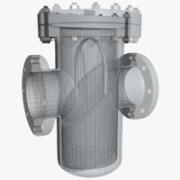 pipe strainer 3d max