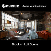3d nyc brooklyn loft model