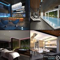 3d hotel interior scenes 1