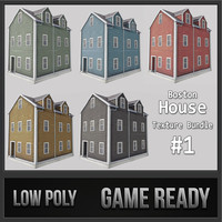 3d boston house 01 model