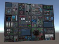 control panels 3d 3ds