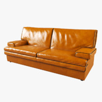 modern buffalo leather sofa obj