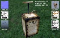 TNT Plunger ( Low Poly Game prop )