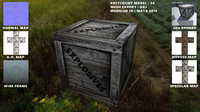 Wooden Crate Low Poly
