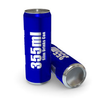 drinks - 355ml slim 3d model