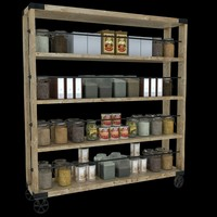 display containing jars 3d model