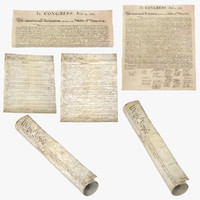 3d american constitution declaration independence