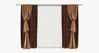Curtain bishop sleeve drapery