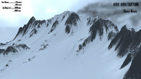 snow mountain 3d obj
