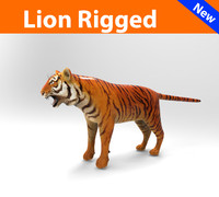ready lion rigged max