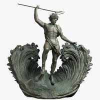 3d poseidon sculpture model