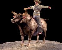 3d bull zbrush model