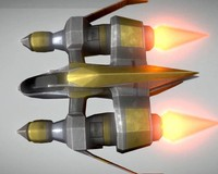 futuristic fighter 3d model