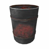 3d fbx old barrel