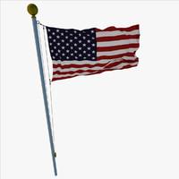 3d flag loop