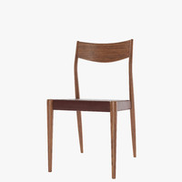 3d tate leather dinning chair model