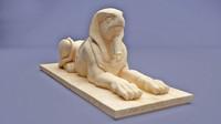 3d 3ds horus sphinx statue