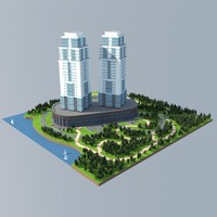 3d model of buildings environment