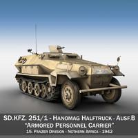 3d sd kfz 251 1