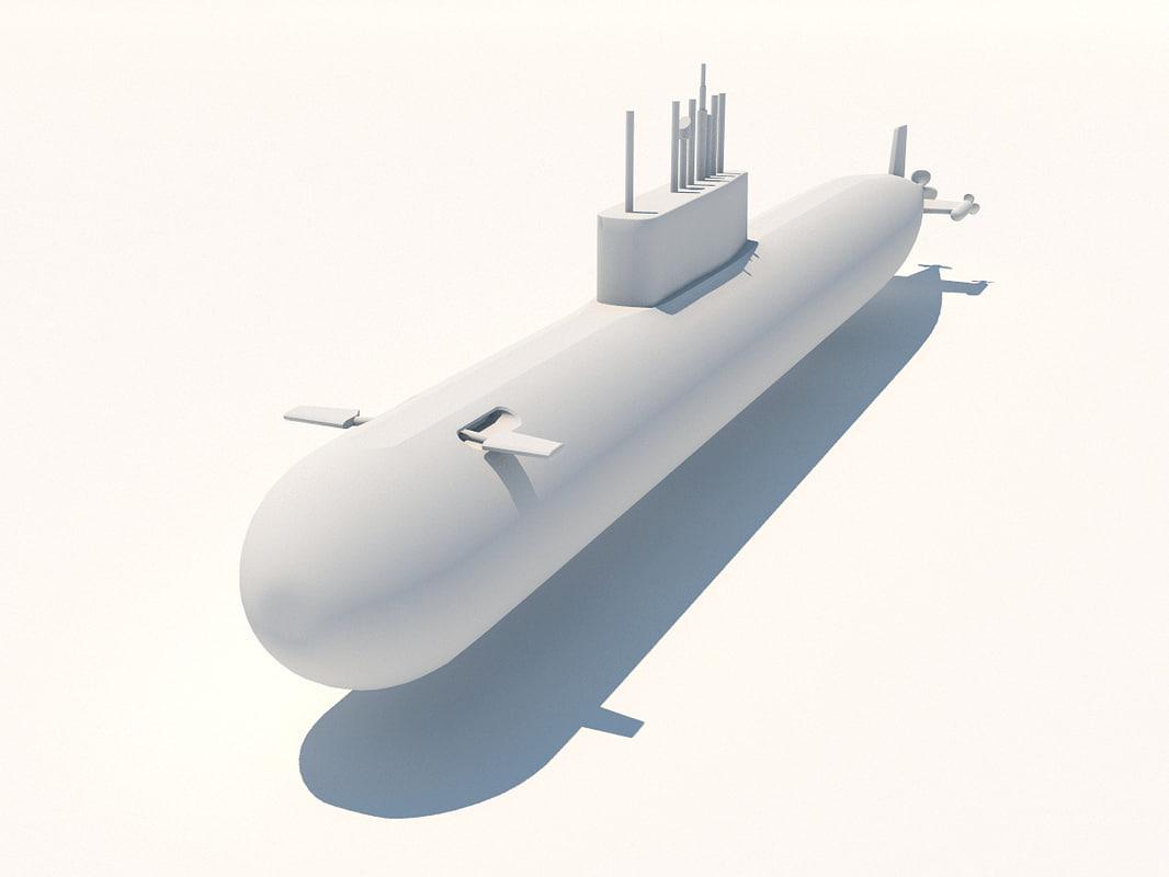 k 278 komsomolets submarine soviet 3d model