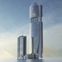 3d dubai towers - building model