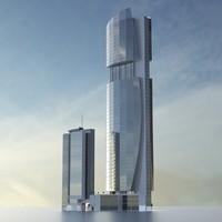 3d dubai towers - building model
