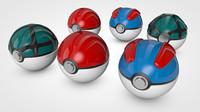 poke balls 3d model