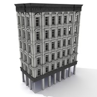 3d model american tenement house