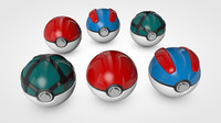 3d model poke balls