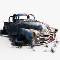 old car wreck 3d model
