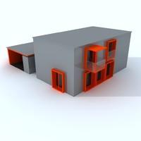 contemporary prefabricate house 3d 3ds