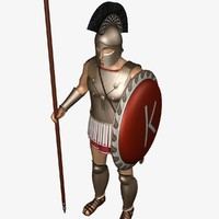 greek heavy hoplite 3d max