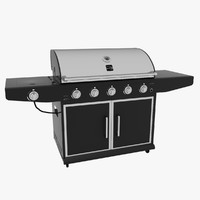 kenmore barbecue modeled 3d model
