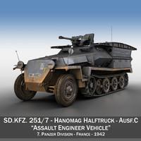 3d model of sd kfz 251 1