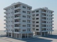 Two V-Ray Apartment Buildings